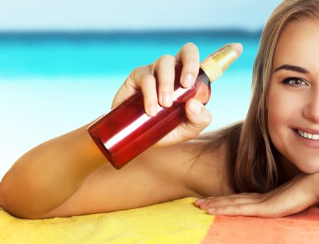 Healthy safe tanning concept