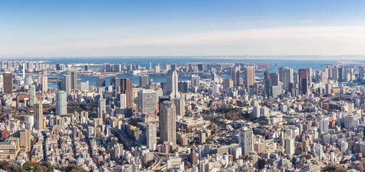 Tokyo skyline building in Tokyo Japan Panorama