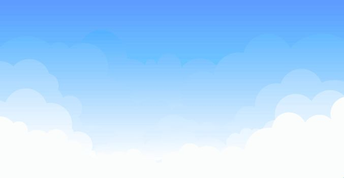 White clouds on the blue sky. Abstract background with clouds on blue sky.