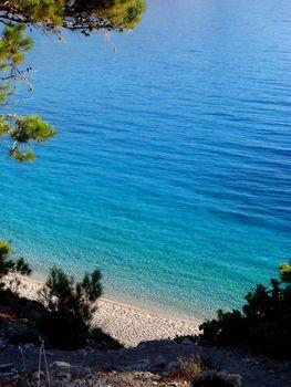 Beautiful Carpathos island beach background wallpaper