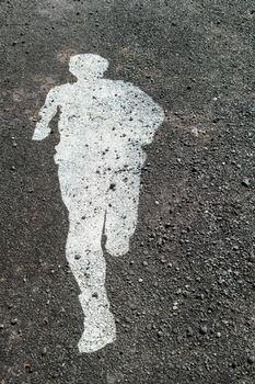Running way Symbol Healthy Lifestyle