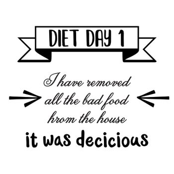 Funny quote about diet.