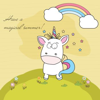 Have a magical summer. Cool poster with unicorn