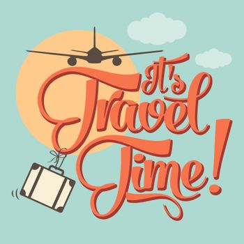 It's travel time. Summer holiday poster