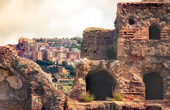 italian archaeology cityscape of Tivoli town in Rome - Lazio - Italy