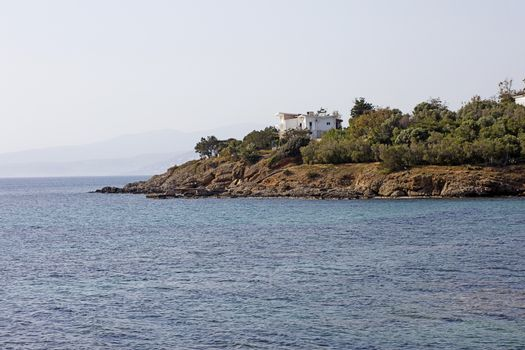 Saronida beach Athens Greece background wallpaper high quality prints.
