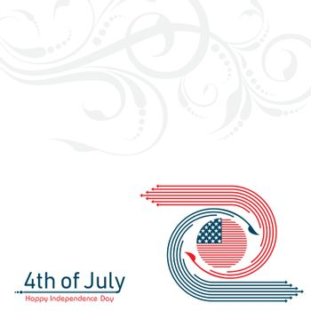 Greeting for Happy Independence Day of United States 4th July
