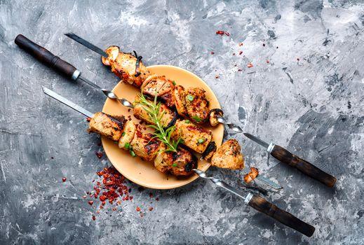 East kebab-grilled meat