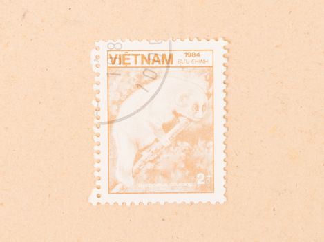 VIETNAM - CIRCA 1984: A stamp printed in Vietnam shows a monkey,