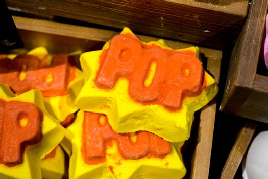 handmade soap in the form of different figures
