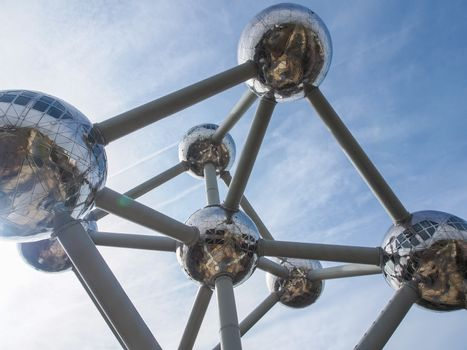 """A close-up picture of one of the """"atoms"""" of the Atomium (Brussels)"""