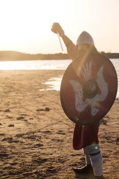 Slavic warrior with sword