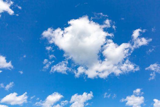 Cumulus Clouds in a Blue Sky - Cloudscape
