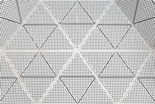 Modern metal ceiling dotted pattern