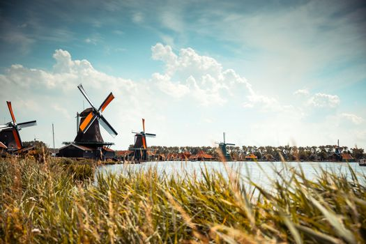Traditional Holland's windmills