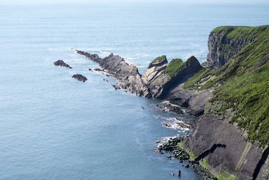 rocky jagged coastline and cliffs in county kerry ireland on the wild atlantic way