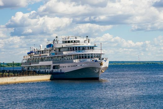 White Cruise Ship.