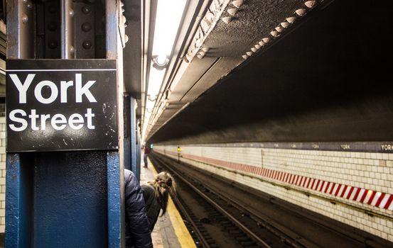 Underground Subway Station in new york city