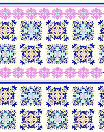 Vector Seamless pattern with geometric textures Ethnic Ornament. Ethnic geometric ornamental background for fabric, decor, surface textures, textile.