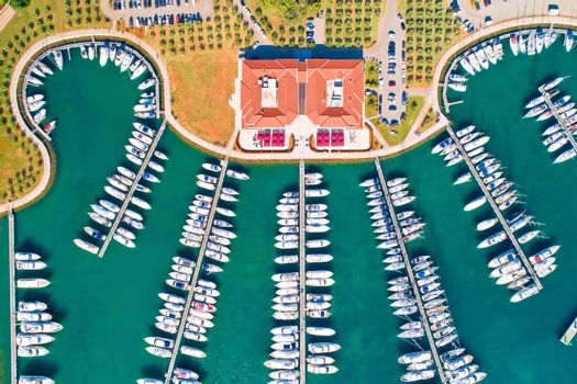 Yachting club and marina aerial view