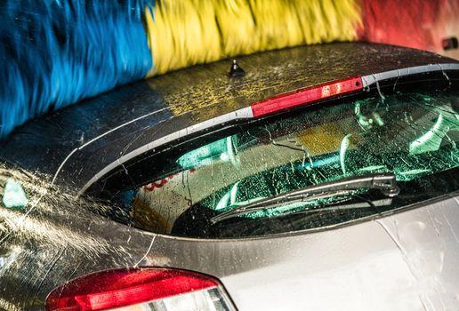 Modern Car in the Car Wash
