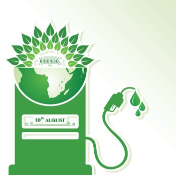 Illustration of International Biodiesel Day Greeting for Eco Environment - 10 August