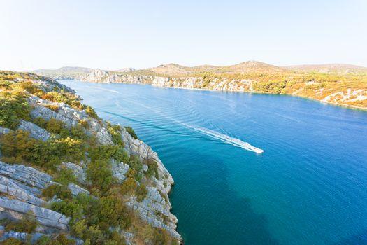 Sibenik, Croatia, Europe - Boat trip to Sibenik within the nature of Croatia
