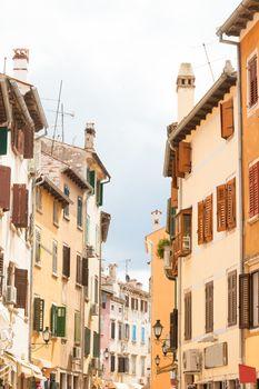 Rovinj, Istria, Croatia, Europe - Beautiful houses in the old streets of Rovinj