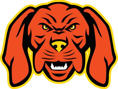 Hungarian Vizsla Dog Mascot Angry