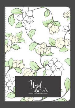 Vector illustration of floral pattern background