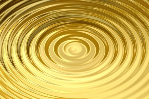 Glowing gold water ring with liquid ripple, abstract background texture