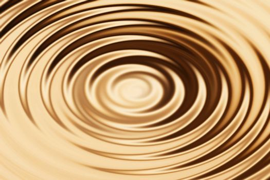 Blurred bronze water ring with liquid ripple, abstract background texture