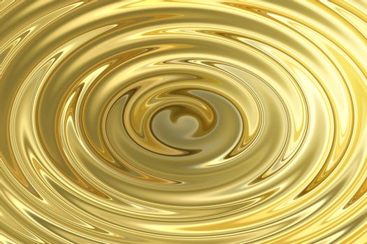 Light shining on gold water ripple, abstract texture background