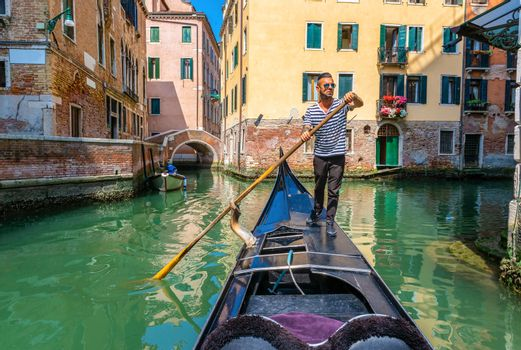 Gondolier in Italy