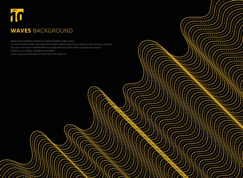 Template design modern abstract 3D yellow line pattern futuristic background for presentation, brochure, poster, business card, cover, leaflet, magazine, placards, annual report, Vector illustration