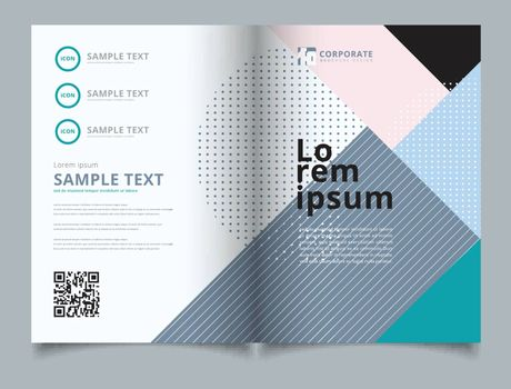 Template layout brochure geometric pattern trendy abstract background. You can use for print, ad, magazine, poster, website, magazine, leaflet, annual report. Vector corporate design