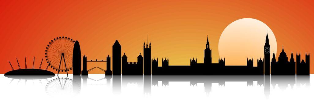 London at sunset skyline
