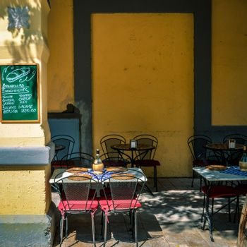 Empty Restaurant in Ibiza Spain