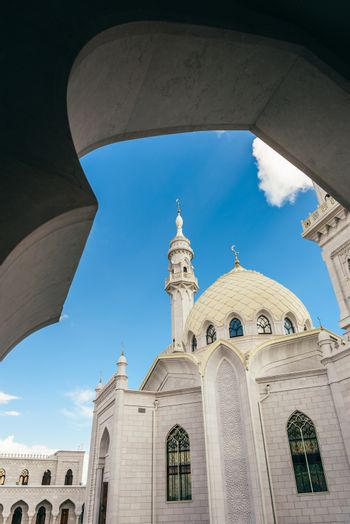 Beautiful Mosque with Dome and Minaret.