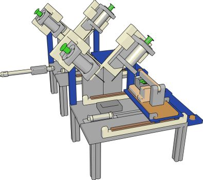 Table saws machine, illustration, vector on white background.
