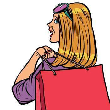 woman Shopaholic sale