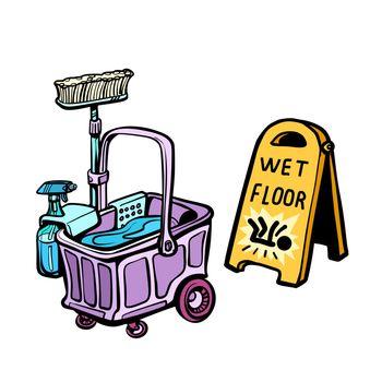 floor washing tools