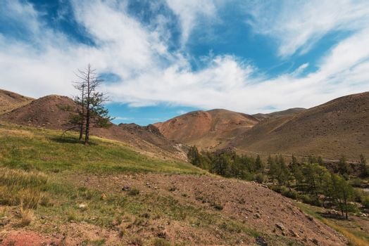 Valley of Mars landscapes in the Altai Mountains, Kyzyl Chin, Siberia, Russia