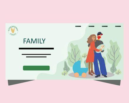 Landing page parenthood concept