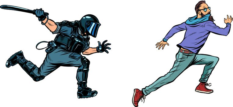 police arrest hipster protest