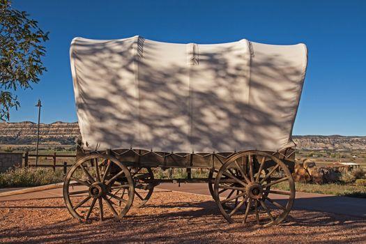 Pioneer wagon at Escalante Heritage Center