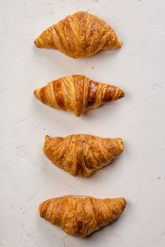 Fresh Croissants, flat lay