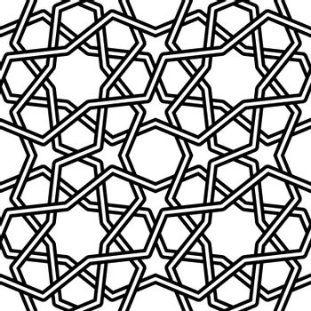 Islamic pattern vector illustration isolated on white background