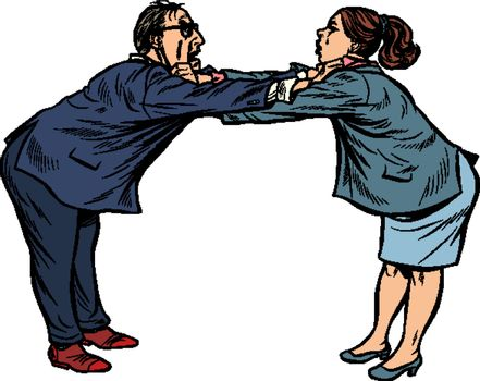 man against woman. gender confrontation and enmity