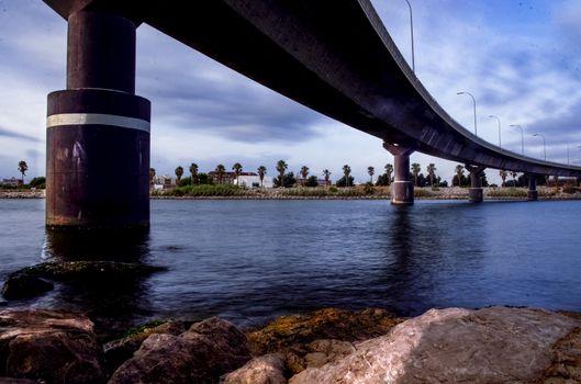 Under the bridge in the Turia River Delta